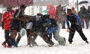 Snow Rugby. Photo Courtesy of Non-Professional Rugby