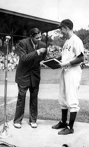 Babe Ruth and George H.W. Bush in 1948. Photo Courtesy George Bush Presidential Library