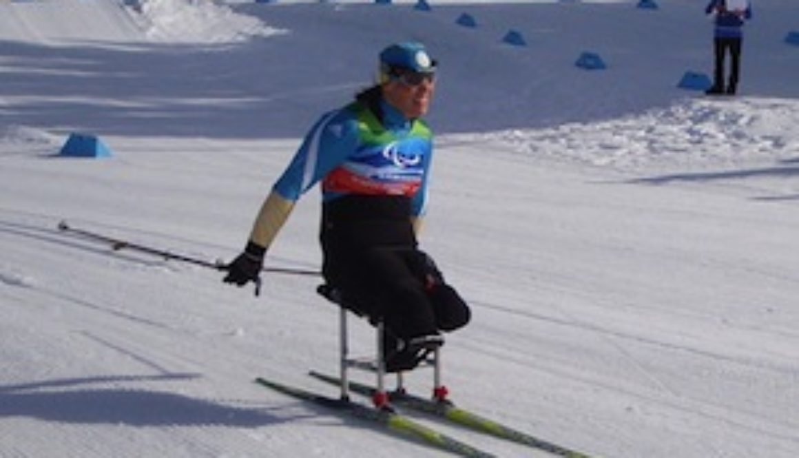 Olena Iurkovska competing at the 2010 Winter Paralympic Games. Photo courtesy of Clayoquot.