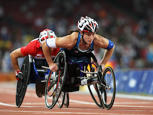 Paralympian Tatyana McFadden on the track