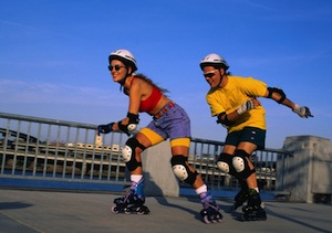 Inline Skaters take it to the street. Photo Courtesy of papershower.com